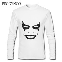 Funny Ghosts Face Printed T Shirts Men Creative Men S T Shirt Autumn Men S T