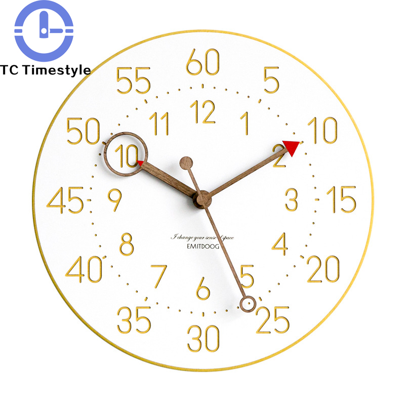 Wall Clock Modern Simple Brief European Minimalist Style Living Room Bedroom Watch Nordic Creative Silent Wall