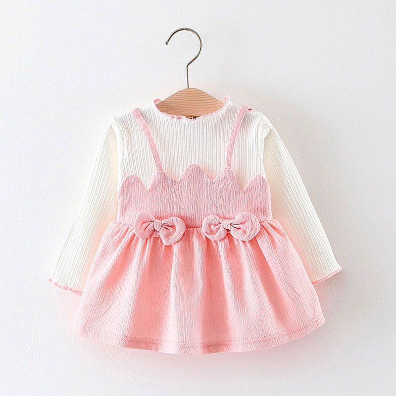 Spring fall baby girl clothes dresses 1 year girl baby ...