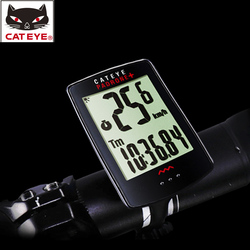CATEYE Bicycle Waterproof Stopwatch Backlight Wireless Padrone+ Largest Display Cycling Bike Speedometer Bicycle Accessories