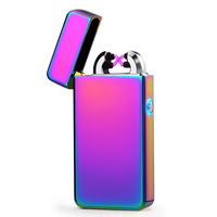 Arc Double Fire USB Charging Lighter Plasma Electronic Cigarette Pulse Lighters for Smoke Hookah Tobacco Weed Cigar Gift Box