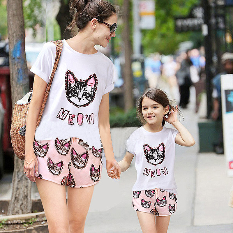 new summer style mom and daughter set matching mother