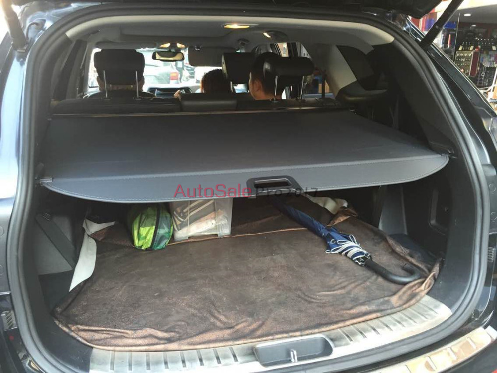 Aluminium alloy + Fabric Rear Trunk Security Shield Cargo Cover For <font><b>Hyundai</b></font> Grand <font><b>SantaFe</b></font> 2013.2014.2015.2016 image