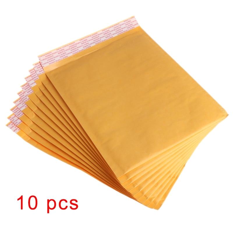 10Pcs 20*25cm Kraft Paper Bubble Envelopes Mailer Bag Mailing Shipping Supplies