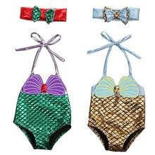 Infant Toddler Girls Mermaid Seashell Swimwear