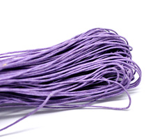 Doreen Box Lovely 80M(3149-5/8″) Mauve Waxed Cotton Cord 1mm for Bracelet/ Necklace (B18504)
