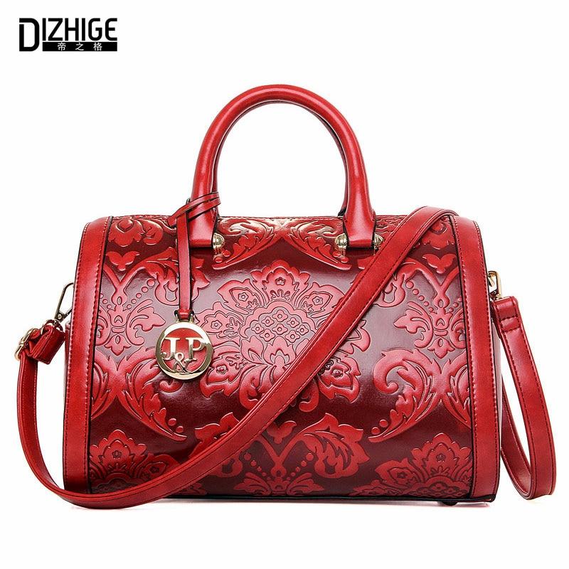 ФОТО DIZHIGE Brand 2016 High Quality Luxury Handbags Women Bags Designer Ladies Hand Bags Chinese Style PU Leather Shoulder Bags New