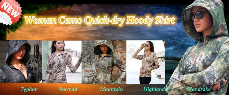 Camo woman quickdry shirt