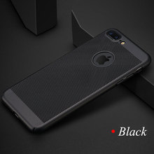 ФОТО 2017 new heat dissipation phone case for iphone 6 6s case scrub texture hard pc for iphone 6 6s 7 plus phone case covers