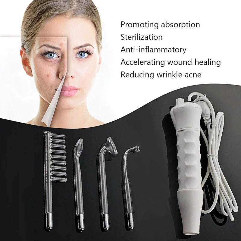 1 Set Professional High Frequency Facial SPA Portable Infrared Device Care Face Massage Relaxation Machine Skin Spot Remover