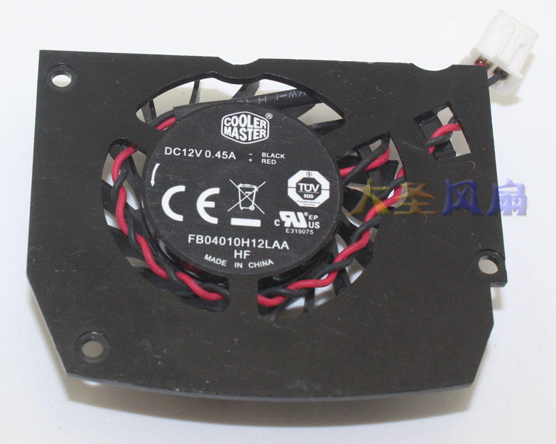 COOLERMASTER FB04010H12LAA HF card cooling fan 12V 0.4A 2wire 4pin mgt8012yr w20 graphics card fan vga cooler for xfx gts250 gs 250x ydf5 gts260 video card cooling