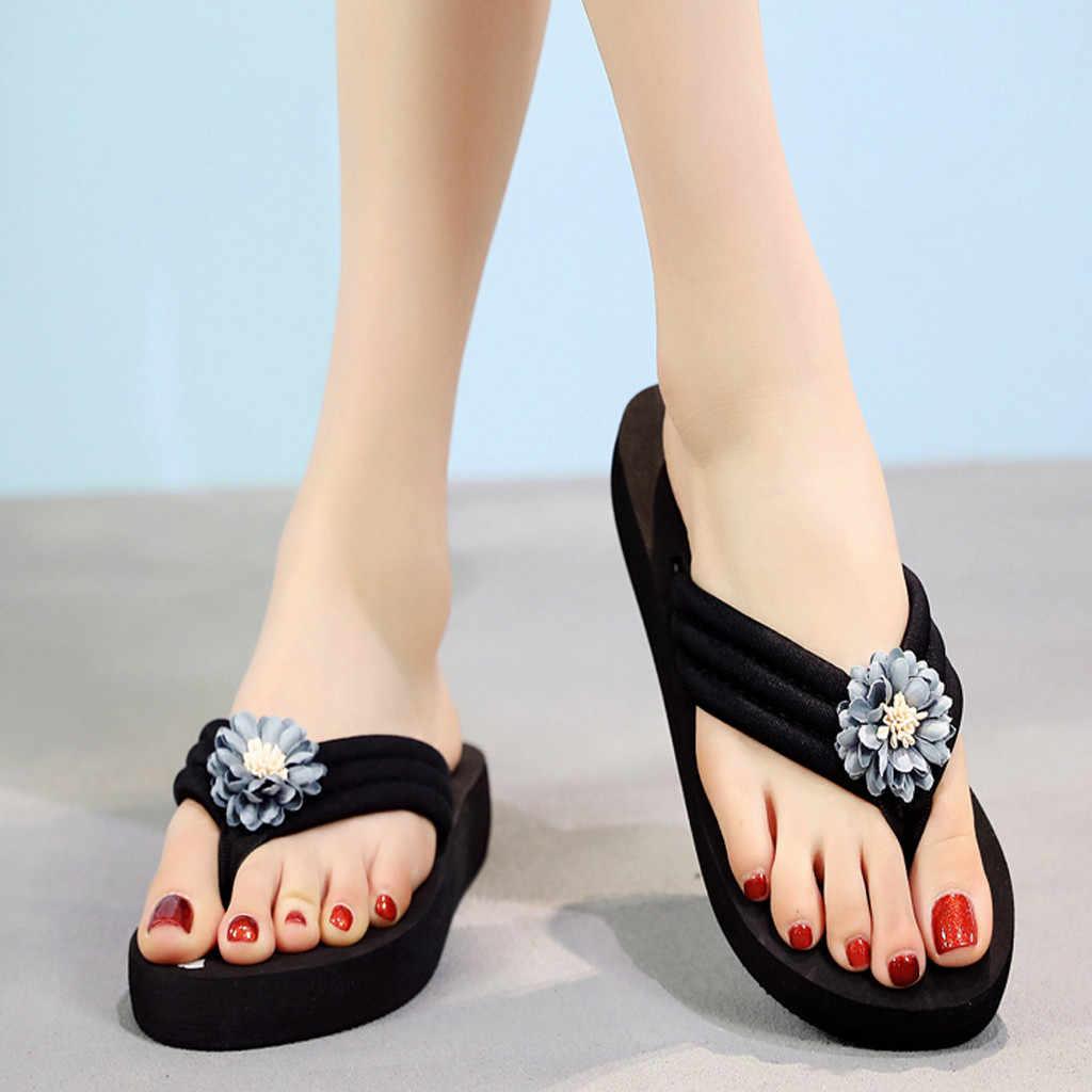 Plus Size Slippers Slippers Vrouwen Schoenen Zomer 2020 Mode Toevallige Bloemen Strand Boho Vrouwen Slippers Schoenen Zapatos De Mujer