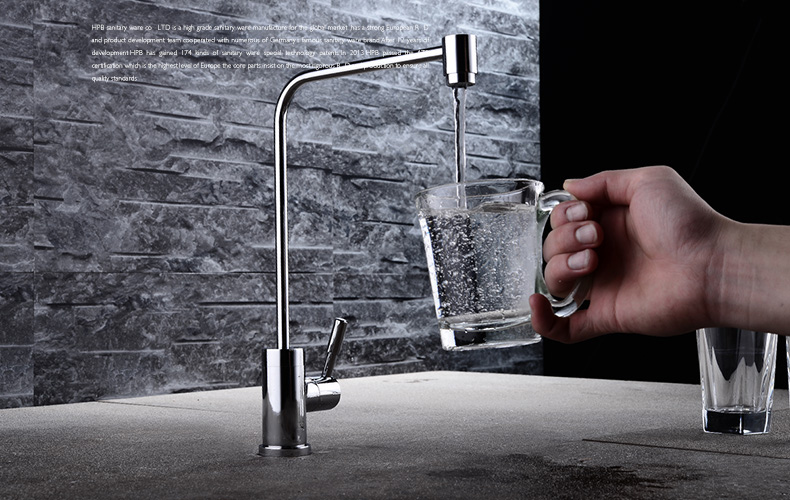 Купить с кэшбэком Kitchen Faucet Single Cold / Water Purifier Water tap, Clean Water Filter purification Chrome Sink Mixer for Home(Hose as Gift)