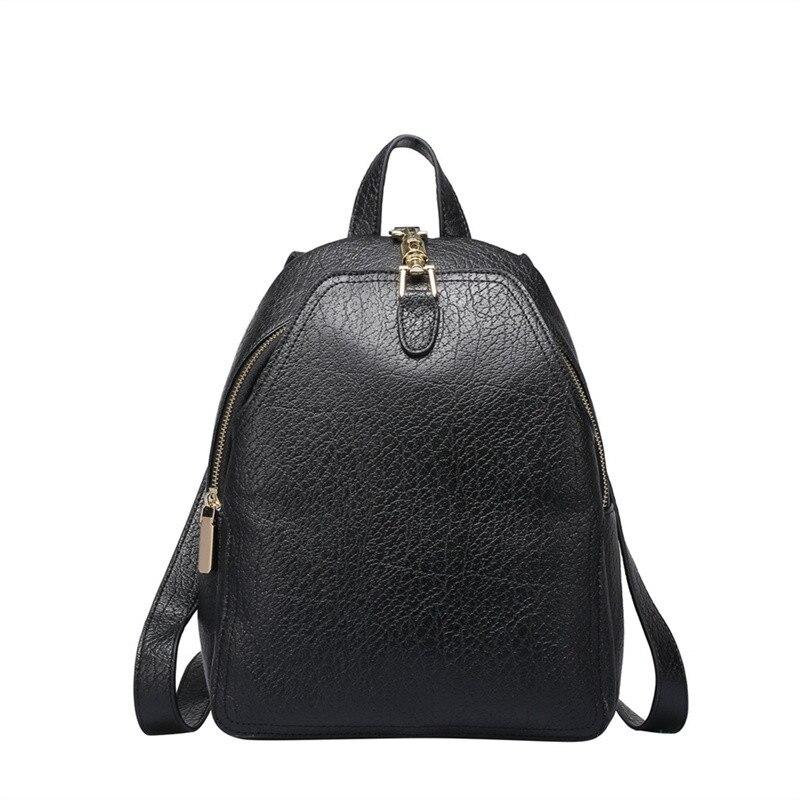Nesitu Black Purple Grey Real Skin Genuine Leather Woman Backpack Female Backpacks for Women #M0752 рюкзак ucon bryce backpack ss17 black grey