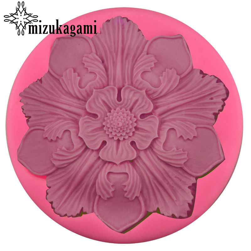 1Pcs UV Resin Liquid Silicone Mold Beautifully Large Petal Flowers Resin Mold Molds For DIY Intersperse Decorate Making Jewelry