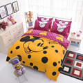 cartoon bedding sets Twin/full/Queen Size Cartoon characters theme 3pcs/4pcs Bed Linen Bed Sheets Duvet