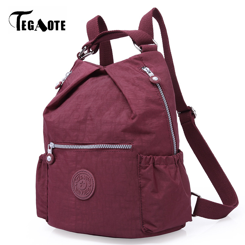 e18333e49fb6 Detail Feedback Questions about TEGAOTE Large Capacity Women Backpack Solid  Simple Shoulder Bags For Teenage Girls Waterproof Bolsa Brand Travel Female  ...