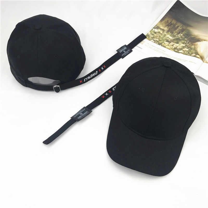 手紙刺繍ロングテープ野球帽の男性と女性の夏の太陽帽子ファッションすべてマッチ。ハンチングヒップホップの帽子