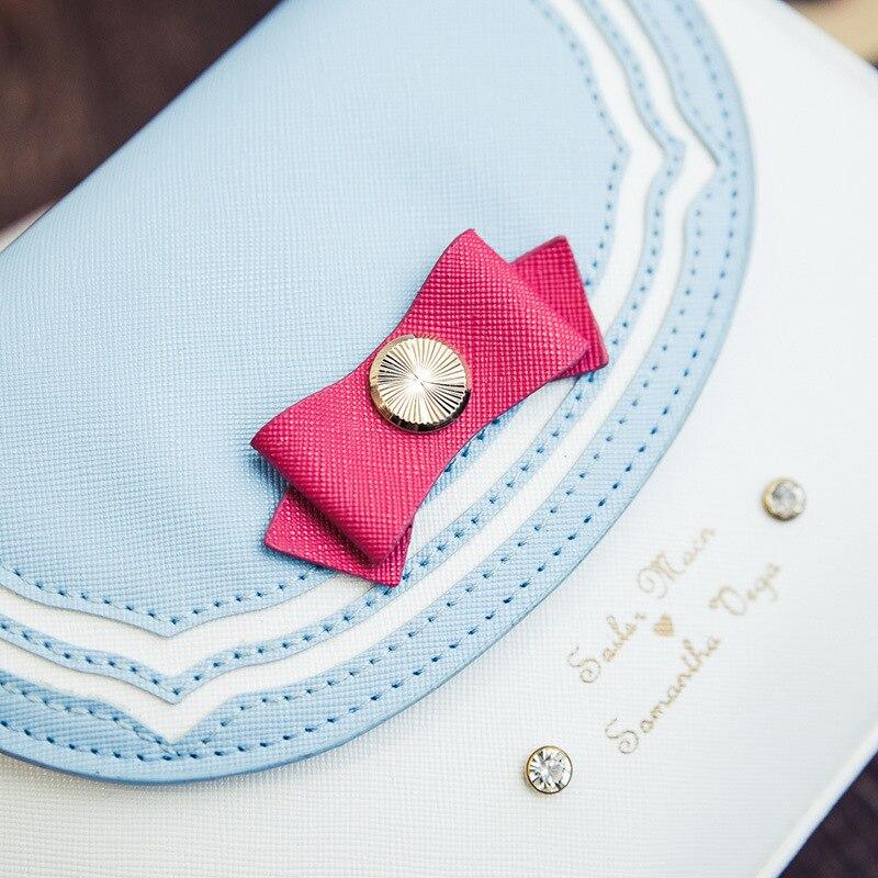 Giapponese Borse Marino Donne A Vintage Pink light Chiaro Spalla il Cuoio Modo Elaborazione Dell'unità Nero 2019 Di verde Casual Purple azzurro Blue Tracolla Catene sky Femminile Carino Blu Nuovo Stile ZwCXqz0xn6