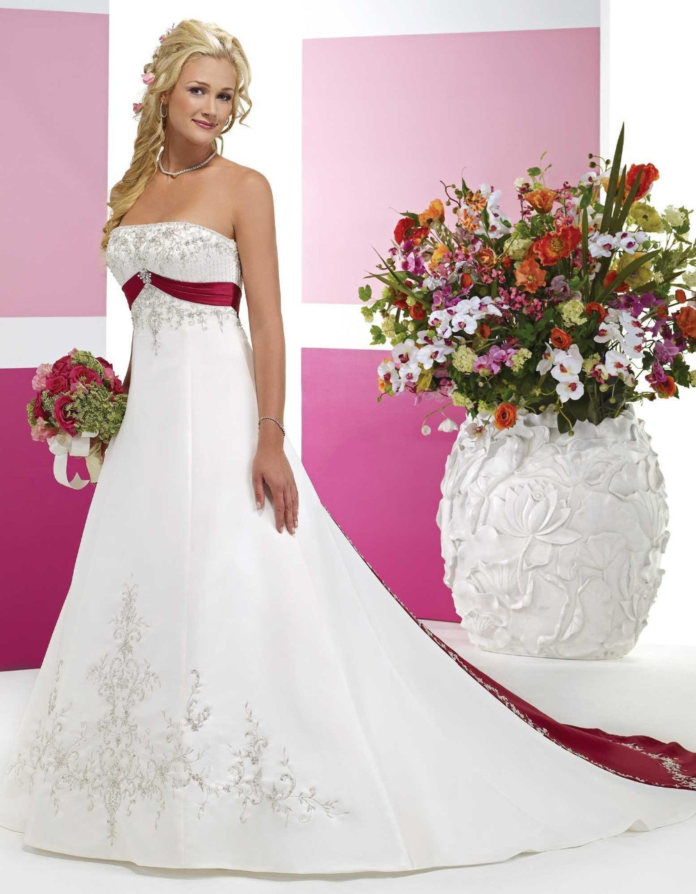 Compare Prices on Cheap Red and White Wedding Dresses- Online ...