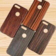 Натурального дерева Телефонные Чехлы для iPhone 7 Plus Одежда высшего качества из натуральной кожи ультра тонкий прочный Деревянный Твердый переплет принципиально телефон Чехлы
