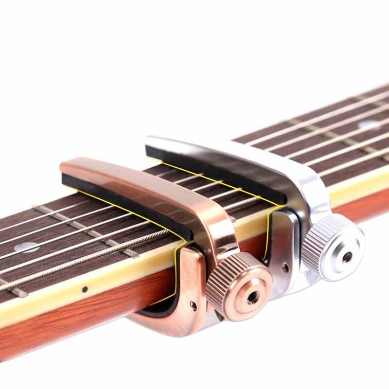 a007j alice metal capo folk acoustic guitar capo ukulele tuning tuner bronze silver guitar. Black Bedroom Furniture Sets. Home Design Ideas