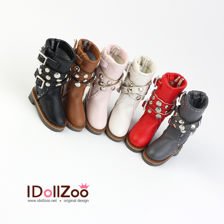 Free shipping High quality handmade Rivet dual boots Doll shoes,doll accessories for Blythe Azone momoko licca girl play house free shipping handmade locomotive boots doll shoes doll accessories for blythe licca azone momoko girl play house