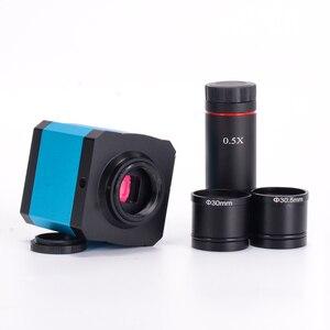 Цифровая камера для микроскопа, 14 МП, HDMI, 1080P, HD, USB, TF-карта, видеорегистратор + объектив 0,5x C с креплением 30 мм, адаптер 30,5 мм