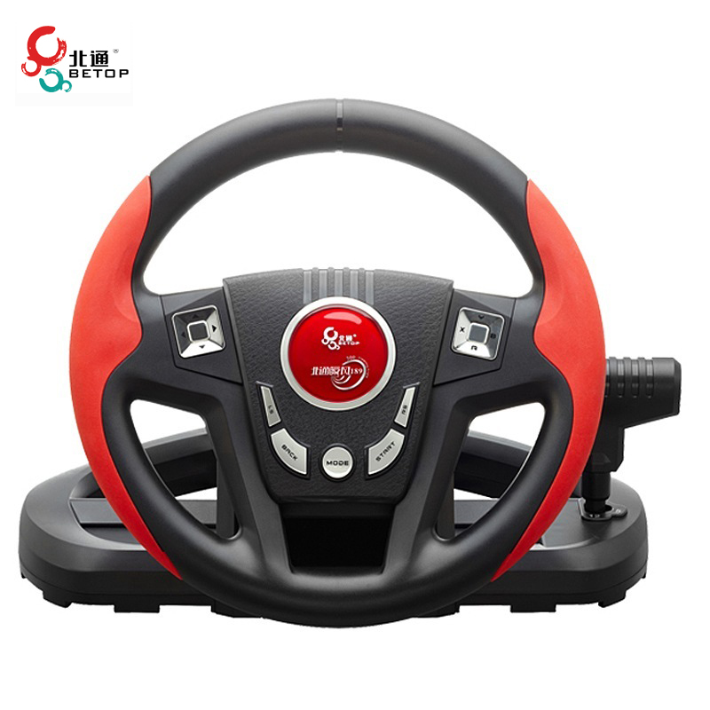 BETOP BTP-3189 Non Slip 11 Inches 300 Degree Shock Computer Driving Game Racing Steering Wheel with Pedals Shift for PC for PS3 2017 wired usb vibration feedback racing wheel for ps3 steering wheel work for xbox 360 ps2 ps3 pc 3 in 1 with free shipping