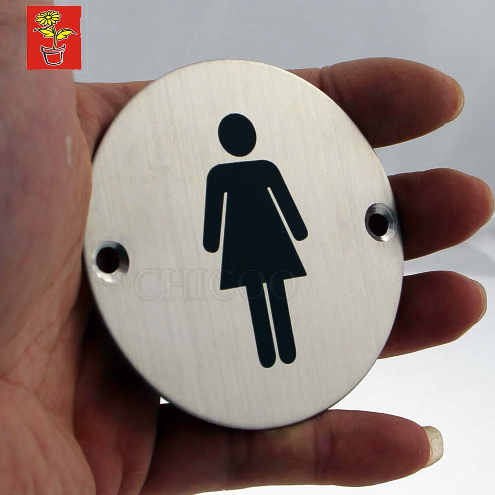 Hi-Q Door Sign Plates Toilet Plate Women Signs Stainless Steel Door Name Plate Office WC Plate Door Sign Projects Hardware эдит пиаф edith piaf fais moi valser 2 cd