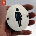 Oi-Q Mulheres Placa Placas de Sinal Da Porta Wc Sinais Placa de Identificação Da Porta de Aço Inoxidável Escritório WC Placa de Sinal Da Porta projetos de Hardware