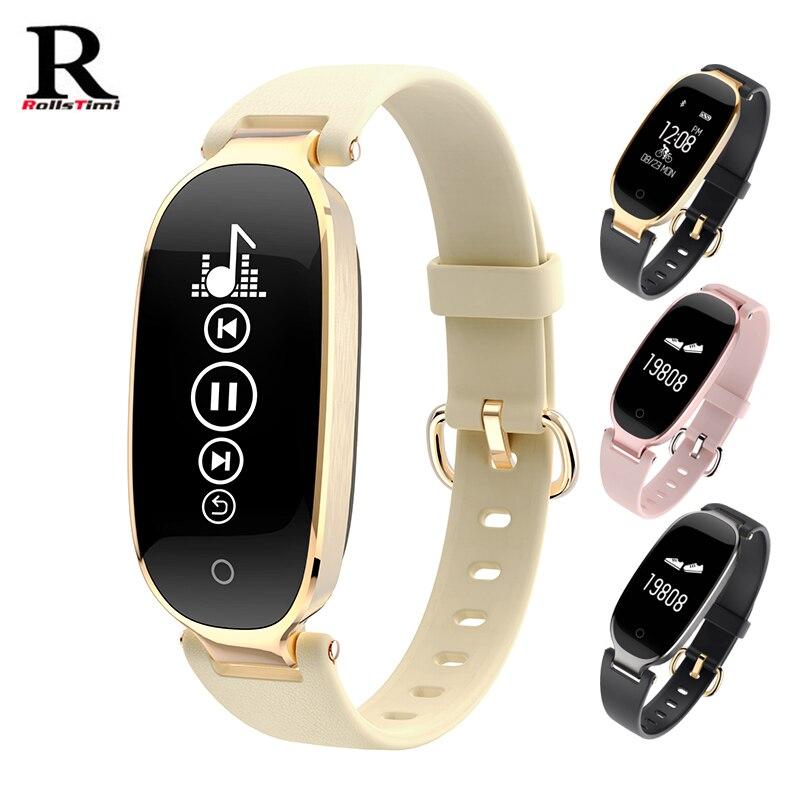 Smart Watch RollsTimi Heart rate monitor smart Bracelet Fashion Casual sports intelligent watch Bluetooth wrist watch for women casual layered heart wings watch