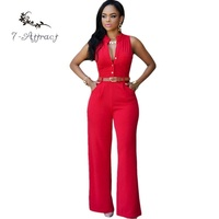 7 Attract Summer 7 Color S XXL Plus Size Fashion Casual Work Women Sleeveless Overalls Belted