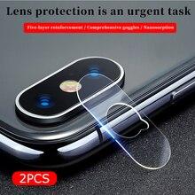2PCS/lot Camera Lens Protector For iPhone 7 8 Plus X XR XS Max Protective Film Lens Glass For iPhoneXR iPhoneX iPhoneXS Max