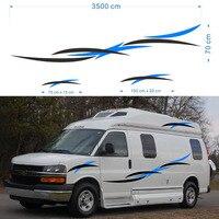 2x Motorhome Caravan Travel Trailer Camper Van Stripes Graphics One For Each Side Vinyl Graphics Kit