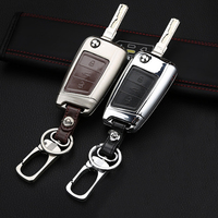 Leather Car Key Remote Cover Case For Volkswagen VW Golf 4 5 6 7 MK7 GTI