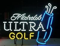 Custom Michelob Ultra Golf Bag Glass Neon Light Sign Beer Bar