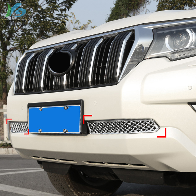 Accessories For Toyota Land Cruiser 150 Prado LC150 FJ150 Fj 150 2018 Below Front Grille Bumper Trims Chrome Car Styling in Bumpers from Automobiles Motorcycles