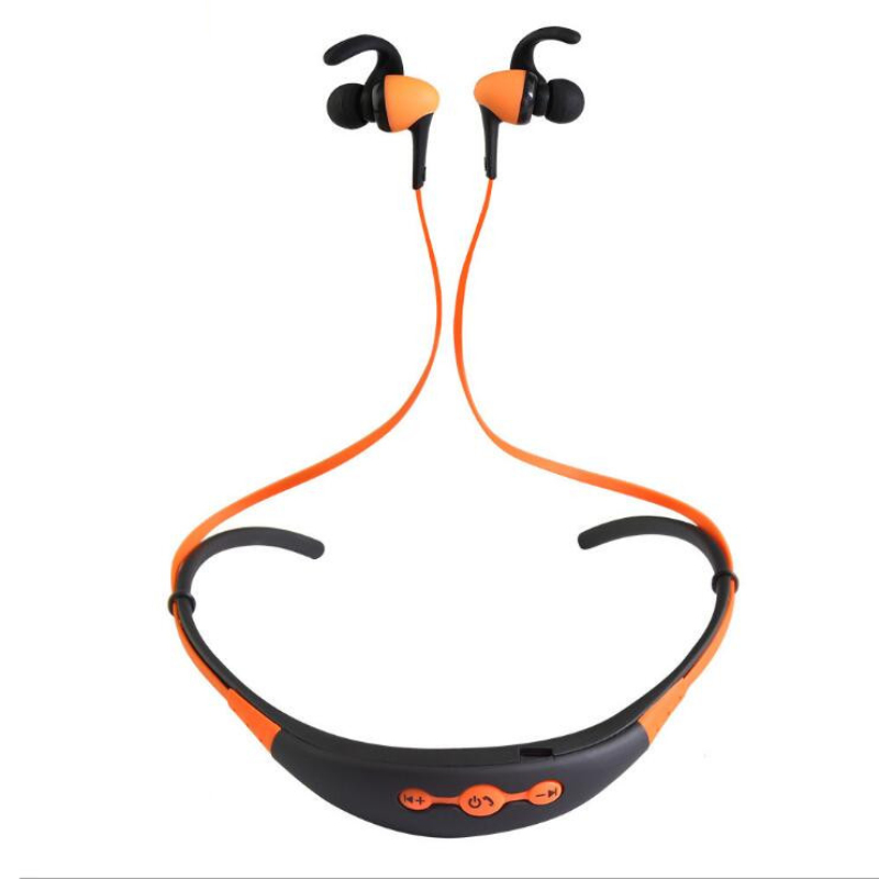 Bluetooth headset neckband  sports fashion for mobile computers with a microphone wireless headphones computers