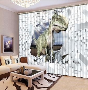 brick curtains  Photo Printing Blackout 3D Curtains for Living Room Bedding Room Hotel animal curtains