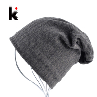 2016 Mens Skullies Bonnet Autumn And Winter Cap Beanie Stripe Pattern Hat Ski Mask Knitted Wool