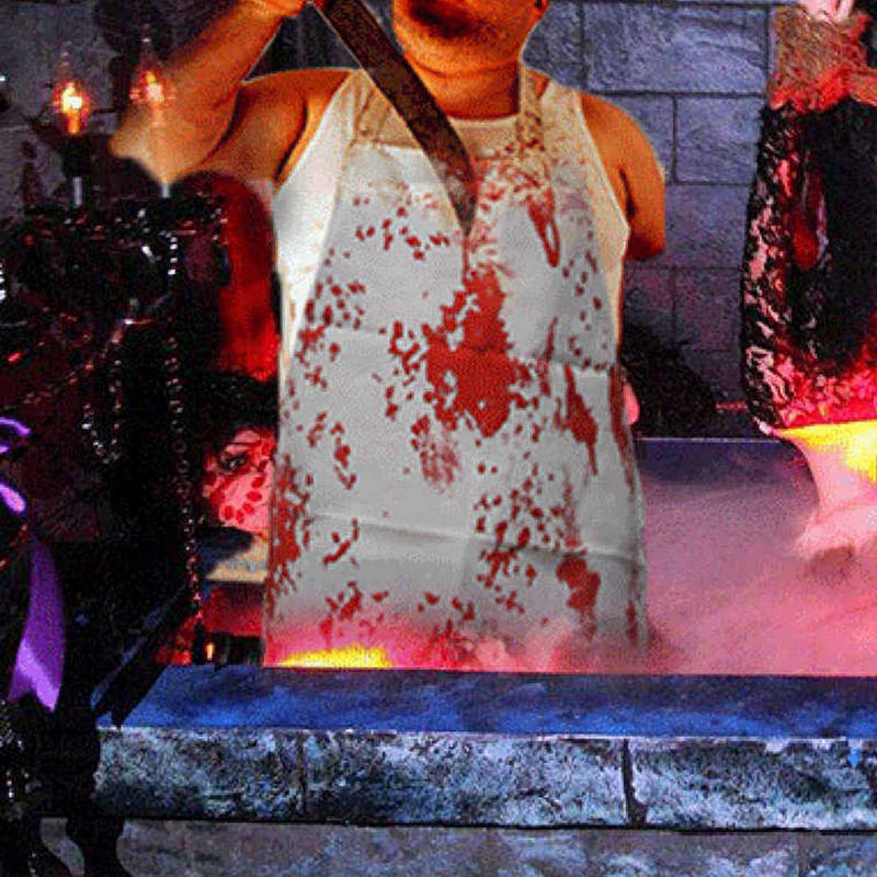 2018 Halloween Adult Bloody Butcher Role Play Blood Aprons Horror ... 719f62960f3e