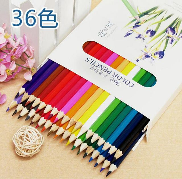 36 Colored Drawing Pencils Artist Sketch Secret Garden Natural Wood No Toxic Paint Coloring Pen