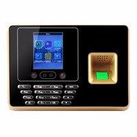 Yobangбезопасности 2,8 дюймовый TFT TCP/IP отпечаток пальца + распознавание лица посещаемость машина Время часы работник регистратор регистрации