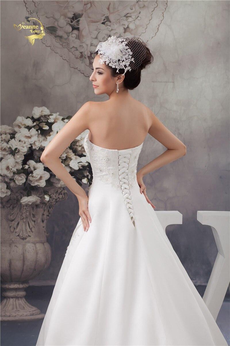 2016 Bílé / slonovinové Luxusní Vestido De Noiva Robe De Mariage - Svatební šaty - Fotografie 4