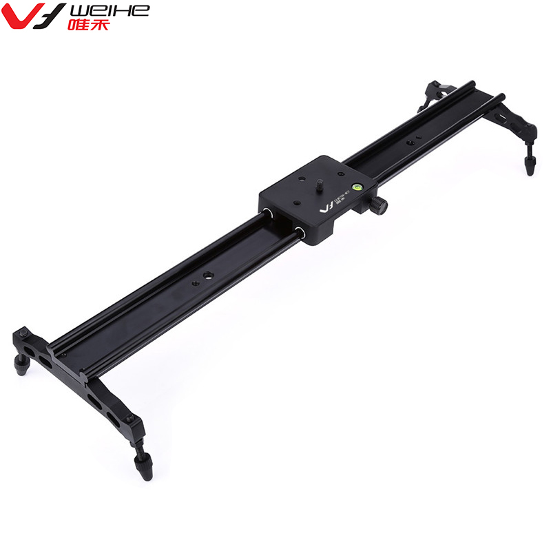 New Vlog Camera Slider For Video Track Dolly Slider Video System Stabilizer WH60R 60CM ( 23.6-Inch ) For Canon Nikon DSLR Camera double track design wh60r 60cm 23 6 inch portable dslr dv camera damping track dolly slider video stabilizer system