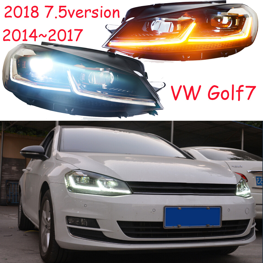 HID,2014~2018,Car Styling for Golf7 Headlight,sharan,Golf 7,routan,saveiro,polo,passat,magotan,Golf7 head lamp simulation mini golf course display toy set with golf club ball flag