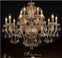 Luxury Fashion Living Room Pendant Light Crystal Lamp Restaurant Lamp Candle Lamp Personality Art Pendant Light