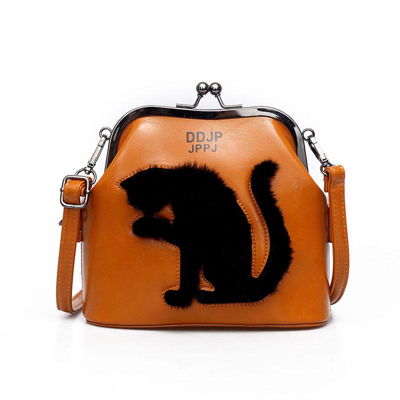 2017 Women Party Bags Cat Bag Ladies Cross Body Bag Women Bags Shoulder & Handbags Messenger Bags Female Leather Shoulder Bags (2)