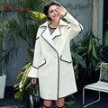 Quintina 2017 New Fashion Loose Flare Sleeve Women Coat Casaco Feminino Plus Size Female Overcoat Winter Coat Women